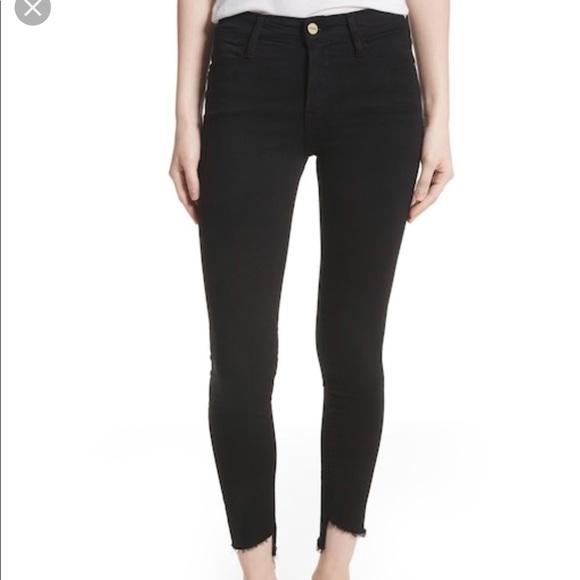 2c97744910b Frame Denim Denim - FRAME Le High Skinny Step Hem Jeans Film Noir